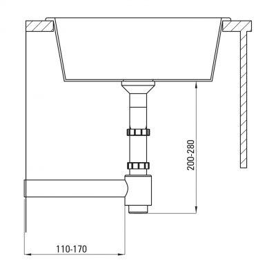 Syfon zlewozmywakowy ZXY9926 Deante