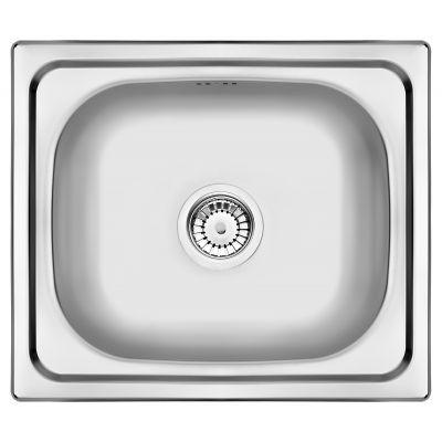Zlewozmywak stalowy z syfonem 48x43 cm ZEN0103 Deante Doppio