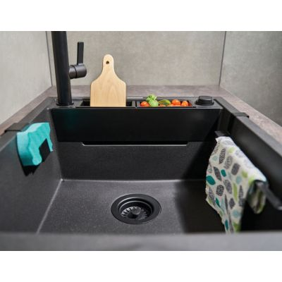 Zlewozmywak granitowy 64x50 cm ZRMN11A Deante Magnetic