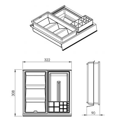 Organizer szuflady 167352 Elita