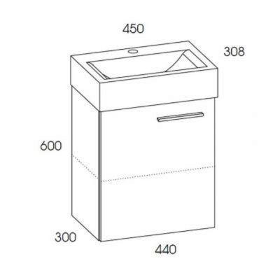 Umywalka z szafką 168301 Elita Tiny