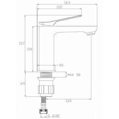 Bateria umywalkowa BU01001 Invena Neri