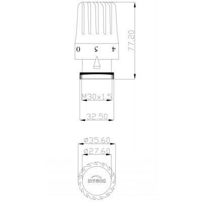 Głowica termostatyczna CD73015 Invena PROV