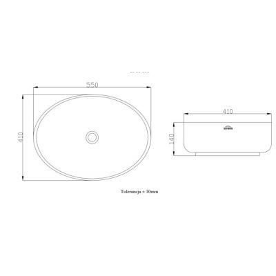 Umywalka CE30001 Invena Astri