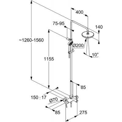 Zestaw prysznicowy 680830500 Kludi Dual Shower System