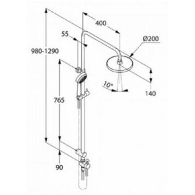 Zestaw prysznicowy 680930500 Kludi Dual Shower System