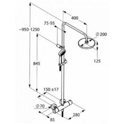 Zestaw prysznicowy 680950500 Kludi Dual Shower System