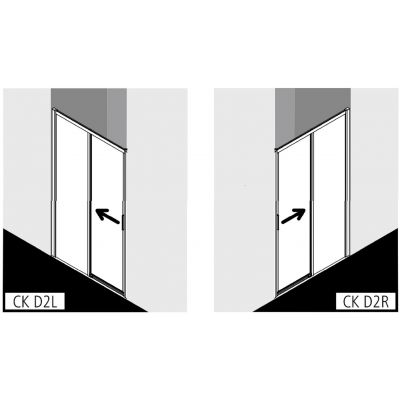 Drzwi prysznicowe rozsuwane CKD2R15020VPK Kermi Cada XS CKD2