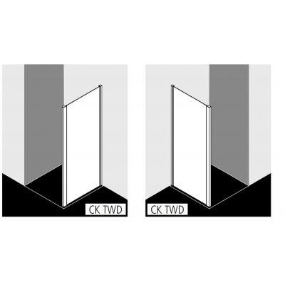 Ścianka prysznicowa 75 cm CKTWD07520VPK Kermi Cada XS CKTWD