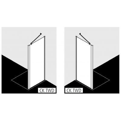 Ścianka prysznicowa 110 cm CKTWD11020VPK Kermi Cada XS CKTWD