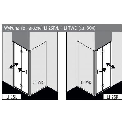 Drzwi prysznicowe składane LI2SL10020VPK Kermi Liga LI 2S