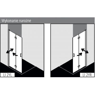 Ścianka prysznicowa walk-in 90 cm LI2YL09020VPK Kermi Liga LI 2Y