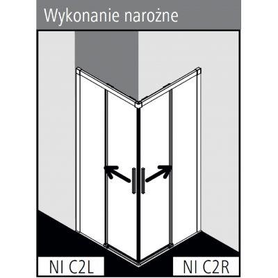 Kabina prysznicowa NIC2R080203PK Kermi Nica NI C2
