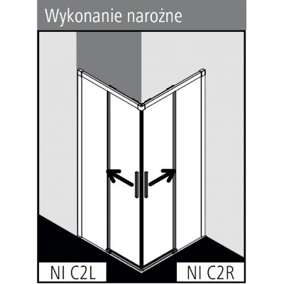 Kabina prysznicowa NIC2R100203PK Kermi Nica NI C2
