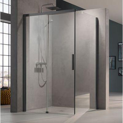Drzwi prysznicowe rozsuwane NID2L140203PK Kermi Nica czarna NID2R/L