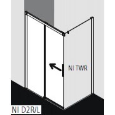 Drzwi prysznicowe rozsuwane NID2L150203PK Kermi Nica czarna NID2R/L