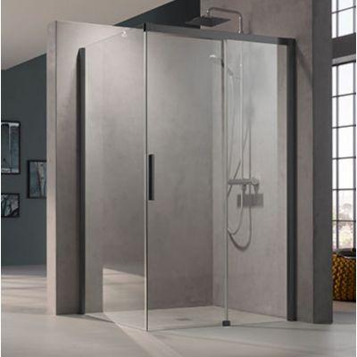 Drzwi prysznicowe rozsuwane NID2R120203PK Kermi Nica czarna NID2R/L