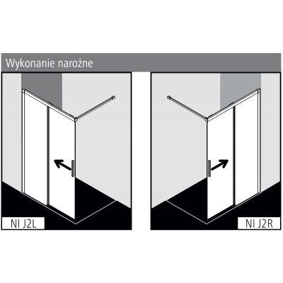 Ścianka prysznicowa walk-in 120 cm NIJ2R120203PK Kermi Nica NI J2