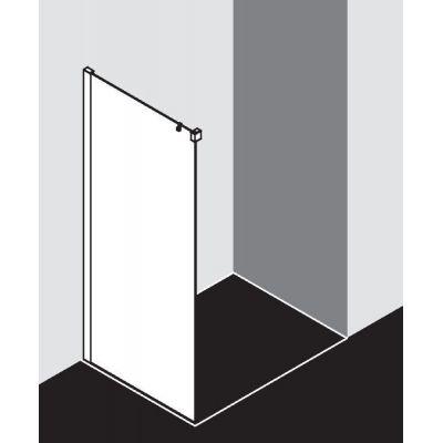 Ścianka prysznicowa 80 cm NITWL080203PK Kermi Nica czarna NID2R/L