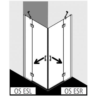 Kabina prysznicowa OSESL07520VPK Kermi Osia OSES