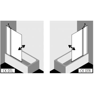 Parawan nawannowy dwuczęściowy CKDTR13516VPK Kermi Cada XS CKDT