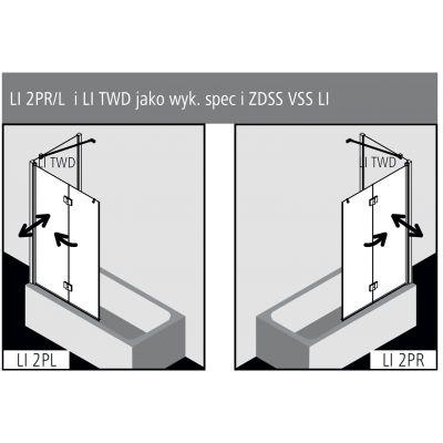 Parawan nawannowy dwuczęściowy LI2PL12015VPK Kermi Liga LI 2P