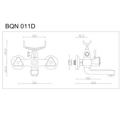 Bateria wannowa BQN011D Kuchinox Norm