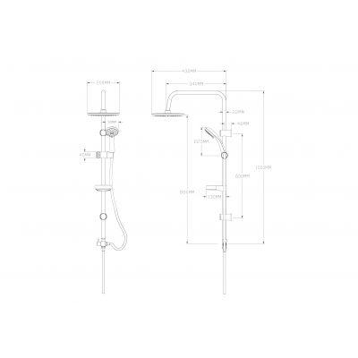 Zestaw prysznicowy PKC70OX Kuchinox Cento