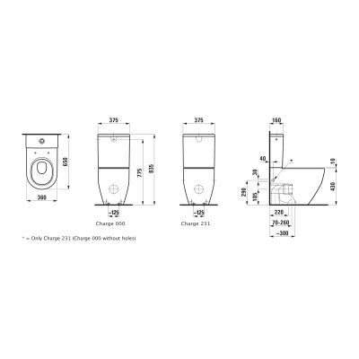 Miska kompakt WC H8259524000001 Laufen Pro A