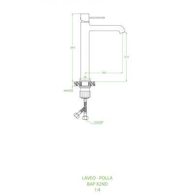 Bateria umywalkowa stojąca BAP82ND Laveo Pola