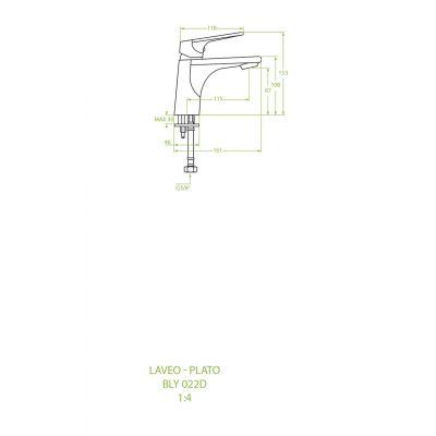 Bateria umywalkowa stojąca BLY022D Laveo Plato