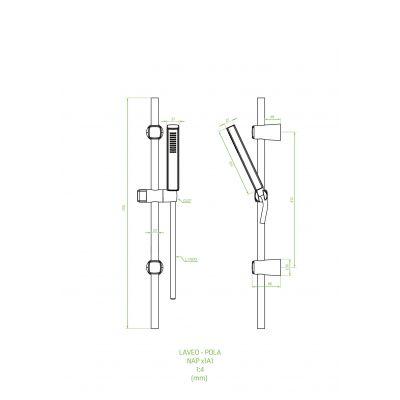 Zestaw prysznicowy NAP81A1 Laveo Pola