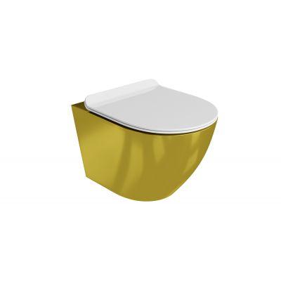Zestaw miska + deska wolnoopadająca 5900378319047 LaVita Sofi Slim Gold/White