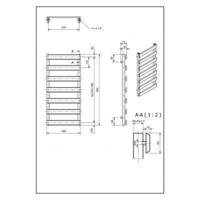 Grzejnik łazienkowy 40x84 cm SCN840400S040 Luxrad Scala New
