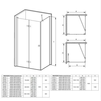Kabina prysznicowa MSKPMN00212070 Massi Montero System