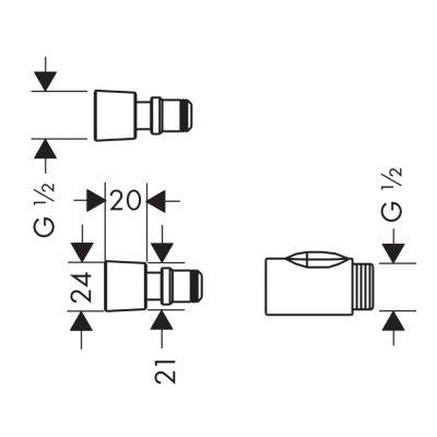 Element systemu montażowego 28346000 Hansgrohe