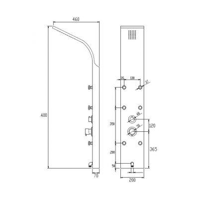 Panel prysznicowy AK60001 Invena Mauritius Exe