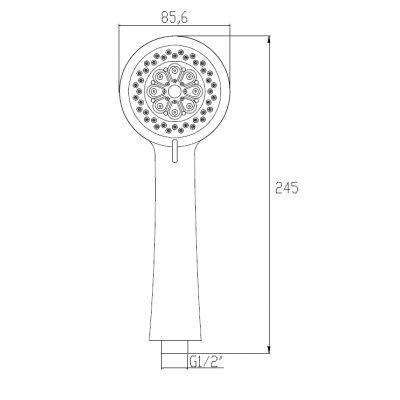 Słuchawka prysznicowa AS79001 Invena Paxos