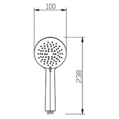 Słuchawka prysznicowa AS17002 Invena Simi