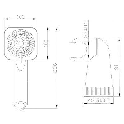Zestaw prysznicowy AU81M01 Invena Alize Exe