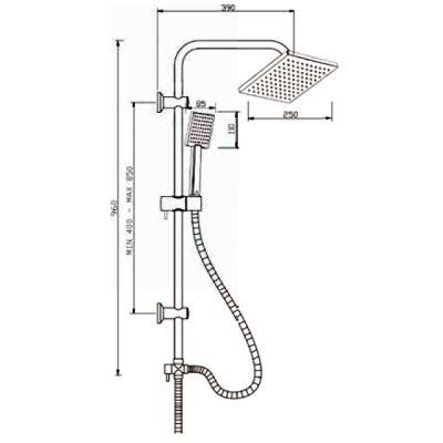 Zestaw prysznicowy AU31001 Invena Patras