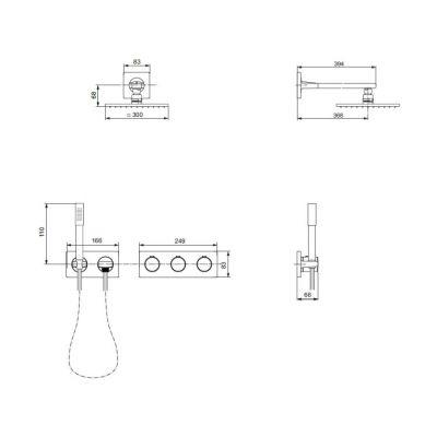 Zestaw prysznicowy A1556AA Ideal Standard Archimodule