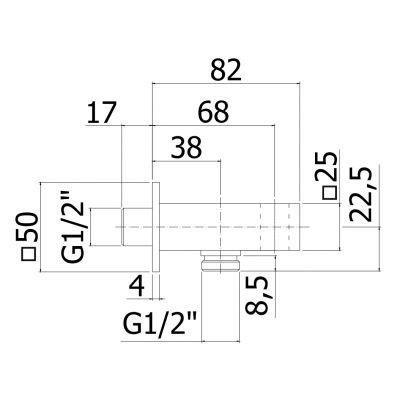 Uchwyt prysznicowy ZSUP032CR Paffoni