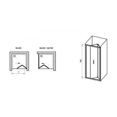 Drzwi prysznicowe X01H10C00Z1 Ravak