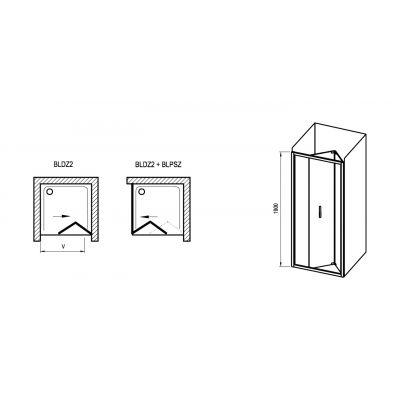 Drzwi prysznicowe X01H40C00Z1 Ravak