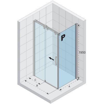 Ścianka prysznicowa 90 cm GU0302102 Riho Ocean