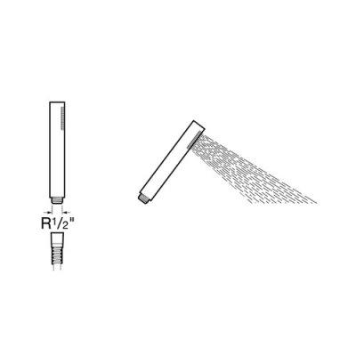Słuchawka natryskowa Loft Roca A505319400