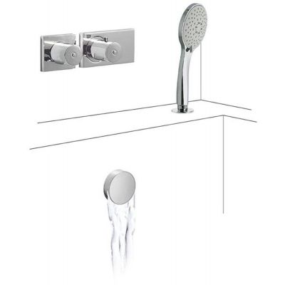 Zestaw prysznicowy 20735207 Tres Block System