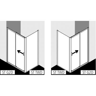 Drzwi prysznicowe rozsuwane STG2D14019VPK Kermi Stina STG2D
