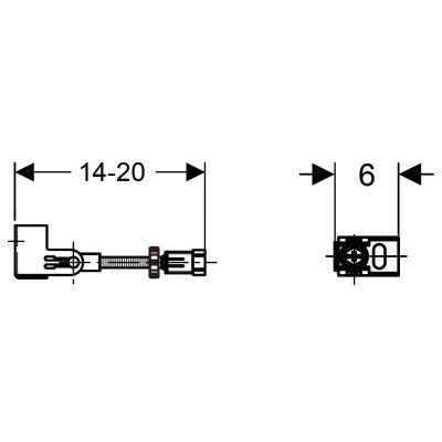Wsporniki dystansowe do montażu narożnego Duofix (UP320) Geberit 111.835.00.1